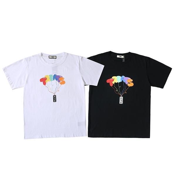 Leckereien Ballon mit Kith gedruckt New York Streetwear Frauen Kurzarm Hemden T Shirts Hiphop Skateboard Männer Baumwolle T-Shirt 1021