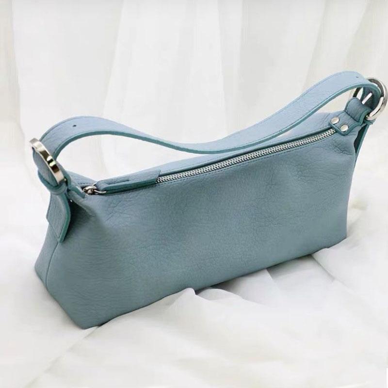 Borsa a tracolla delle donne della borsa a mano blu del cielo dell'annata 2021 borse delle borse delle nuove donne