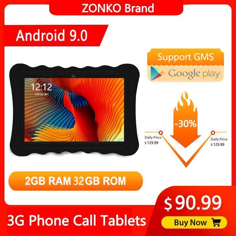 Tablet PC Zonko 10 pollici Android 10.0 Quad Core 3G Chiamata telefonica 2 GB RAM 32GB ROM IPS 1280 * 800 Dual SIM Card WiFi GPS Tablets1