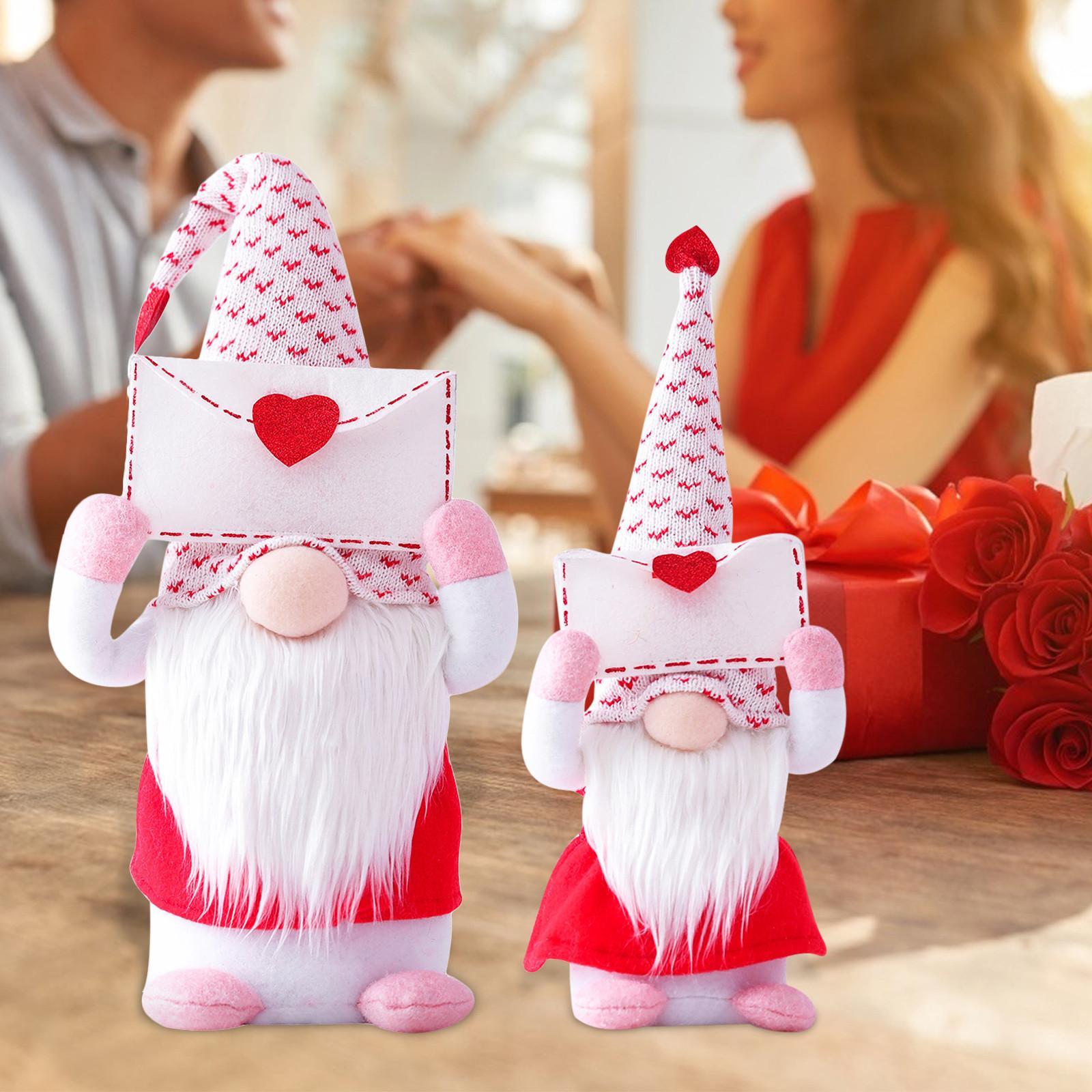 Конверт и любовь Шведский Санта Гном плюшевые кукла Праздник фигурки игрушка День Святого Валентина Кукла Орнаменты DDE4496
