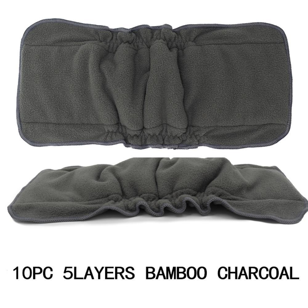 [Mumsbest] 10 шт. Eco-Friendly Liner Экологические подгузники Моющийся слой вставьте вставные вставки в подгузники для детей 13,5 * 36см C0117
