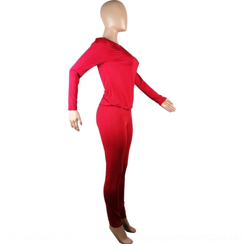 Lzxz 2020 casual casual moda impresión de invierno chándal de dos piezas para mujer amor traje de manga larga pantalones de manga larga y damas trajes de deportes de otoño