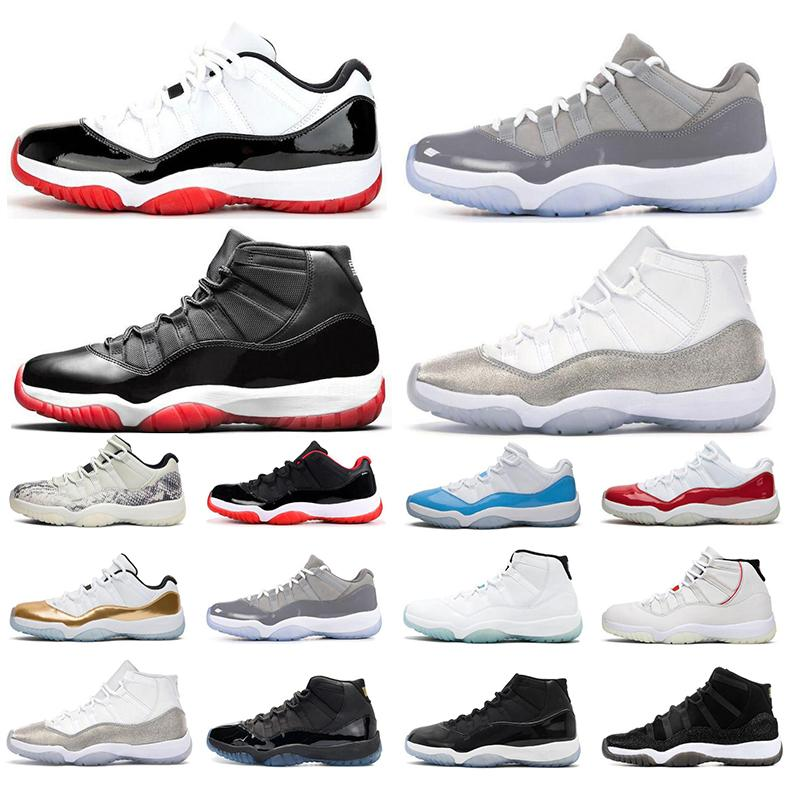 Новый 11 11s Mens Basketball обувь Concord 45 Cap и платье Легенда Синей Платина Оттенок Space Jam Gym Red XI Мужчина Спортивная обувь