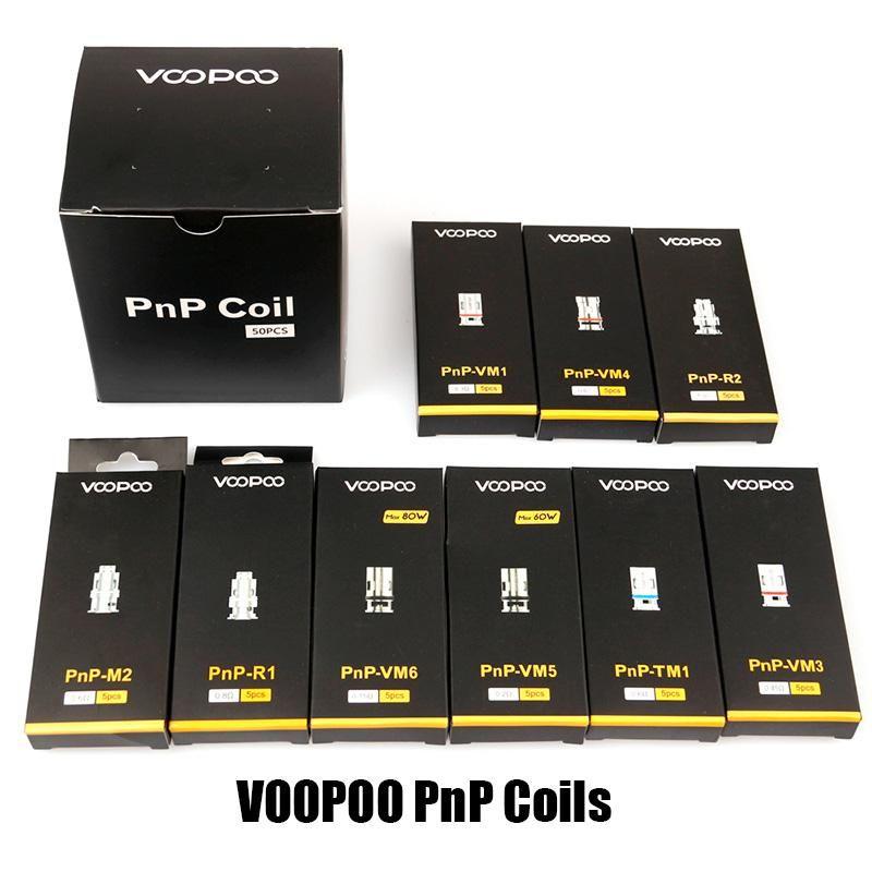100% Authentic Voopoo PNP Coil Head VM1 VM3 VM4 VM5 VM6 TM1 M2 MESH R1 R2 Core VAPA per Vinci R x Drag S Argus rx Air