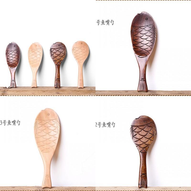 Löffel Fisch Mund Woodiness Moderner Kreativer Reispfanne Reiskocher Neue Art Umweltfreundliche Löffel Fabrik Direktverkauf 5 99xw P1