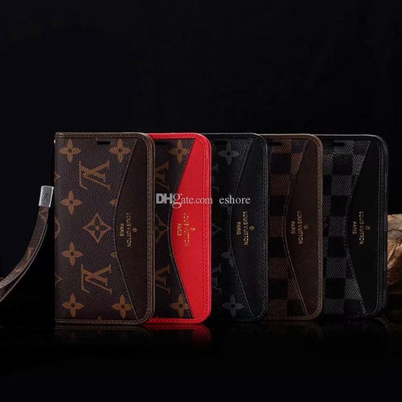 아이폰 12 미니 11 Pro x XS 최대 XR 8 8Plus 7 7Plus 품질 디자인 360도 보호 커버에 대한 클래식 지갑 플립
