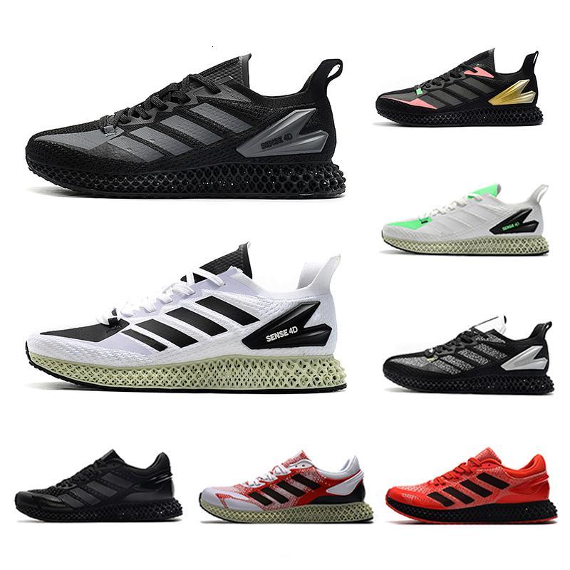 2020 Солнечный красный og Miami Sense 1.0 Mens ZX 4000 Futurecraft Открытый обувь тренажеры для мужчин ZX4000 Углеродные спортивные кроссовки 40-45