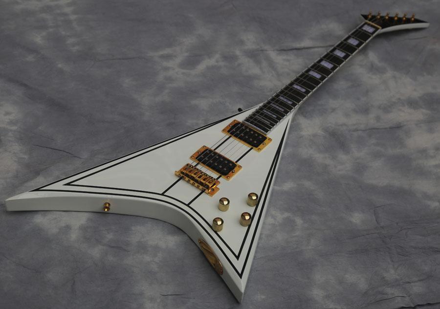 chitarra elettrica di qualità Randy Rhoads Flying V chitarra, tastiera in ebano
