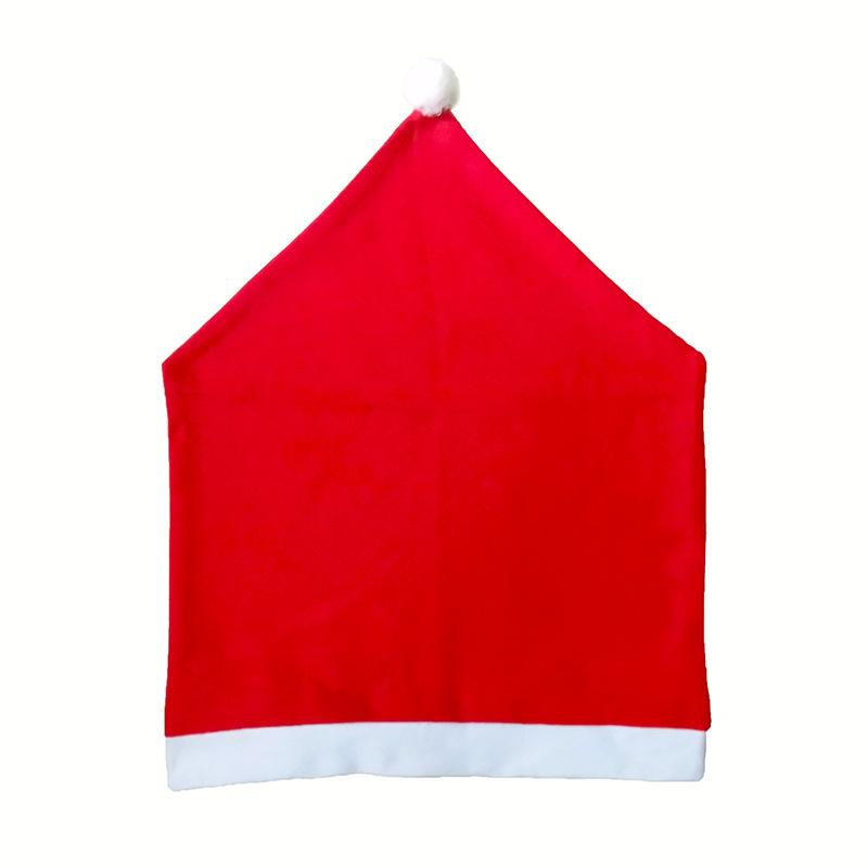 Decorazioni natalizie Sedia Cover Cappello Cappello Degli ornamenti Costumi classici Coperture classiche Red Non tessuto Tessuto Manica 2020 1 6DZ F2