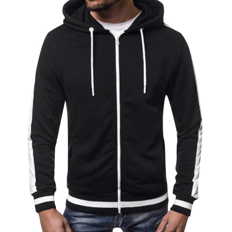 Осень 2020 Толстовки Мужчины Длинные Рукав Лоскутная Пуловер с капюшоном Пуловер Толстоустойчивый Черный Толстовка Веррон Хомбр