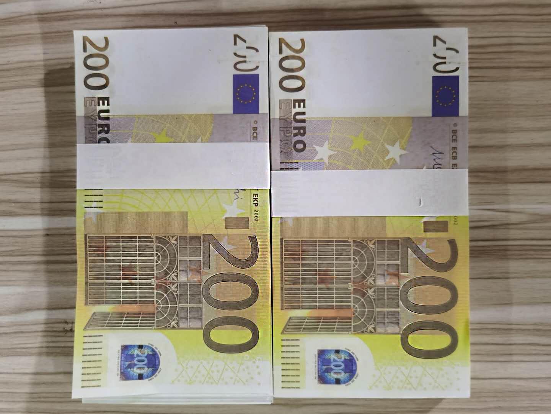 SPMUU Quality Billet 200Euro Crafts Money Top Prop Faux Atmósfera NightClub Movie Bar Money Money 10 Fake Play Euro LR12 Billet Kvuai