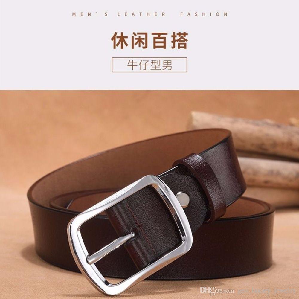 Cinturón de cuero de doble cara, cinturón de cuero con hebilla de alfileres de hombre joven, cinturón de estudiantes informales y versátiles