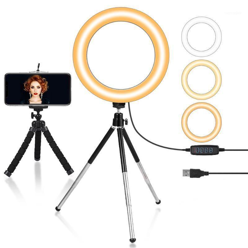 7inch / 18cm Mini Selfie LED Bague Bague pour maquillage YouTube Light Light USB Plug USB avec trépied LIVE Photo photographie pour téléphone1