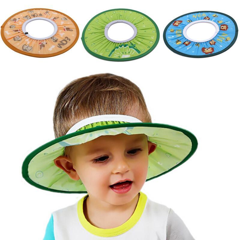 Suave y seguro para niños pequeños los niños se laven protector del pelo de los casquillos del sombrero del bebé champú de baño de ducha ajustable lindo Protect Cap 201019