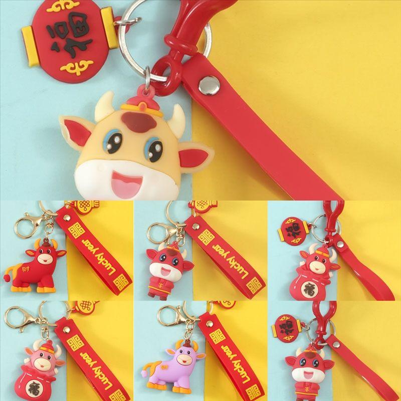 6zt mode dessin animé doraemon chat poupée jingle photo porte-clés clé Petits cadeaux pour l'année du sac chanceux de boeuf machine de voeuchaine numérique