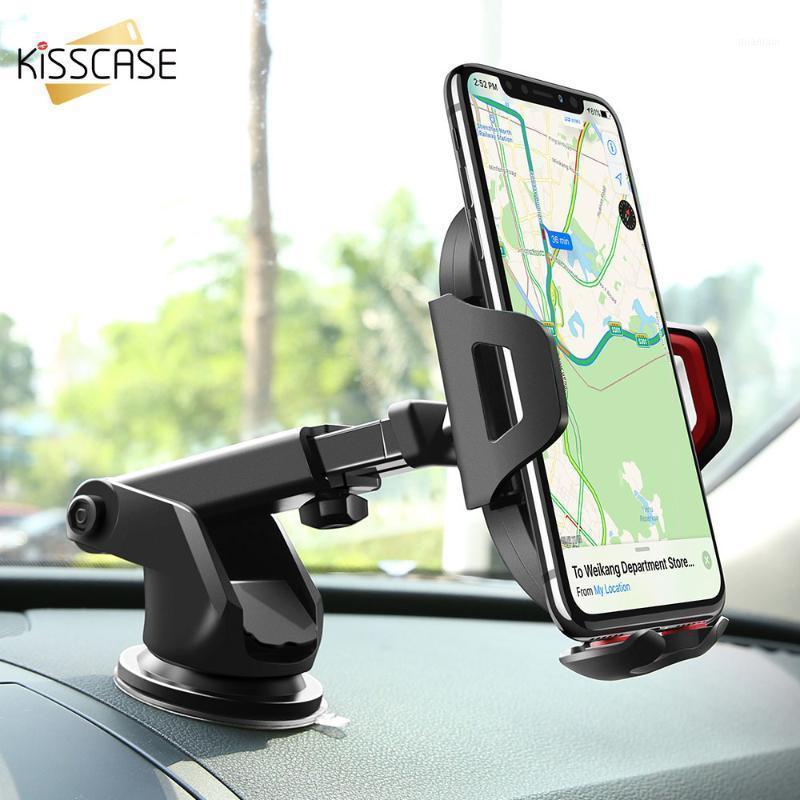 Titular do telefone celular Titulares Kisscase Car Suporte para em Sucção Copa Air Vent Mount XR XS Max Huawei P201