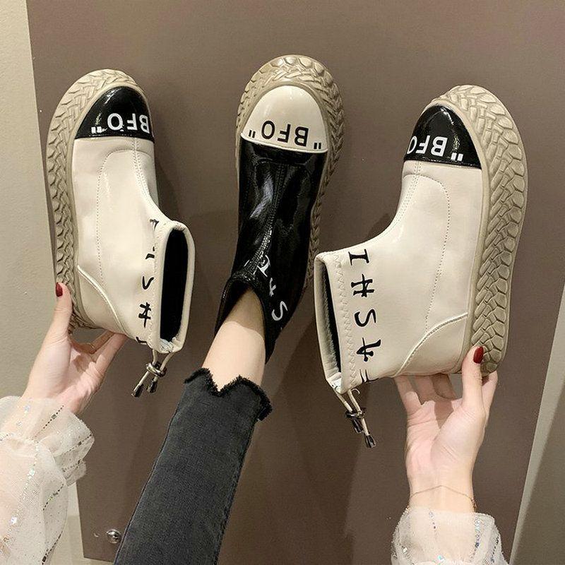 толстые дамы короткого лакированная новой марки женщины платформа обувь дно зашнуровать ботинки A63-29 JY