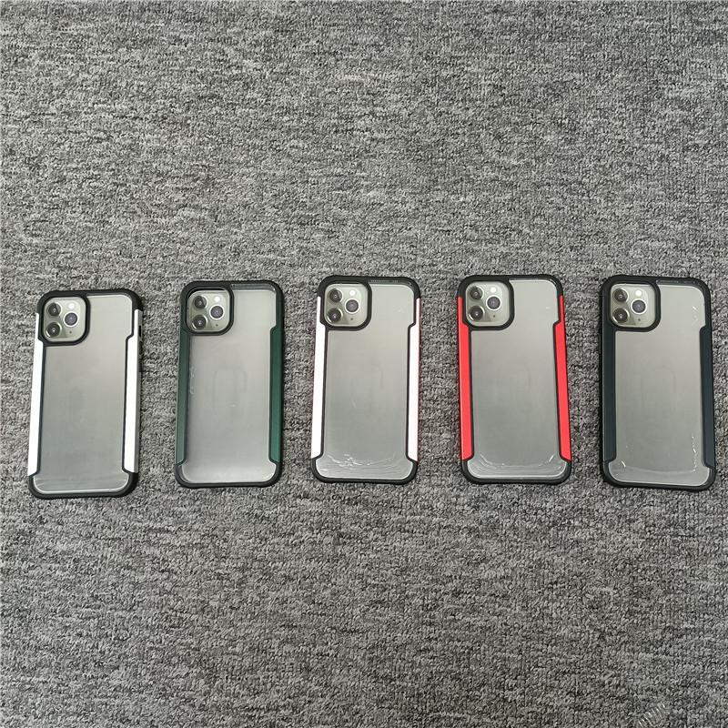 Hochwertige PC- und TPU-Fälle Zwei-in-One-Anti-Drop-transparente klare Handy-Kasten für iPhone11 x 12