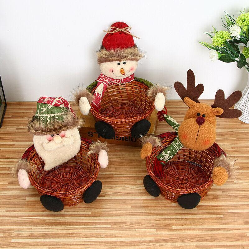 Christmas Candy Boxes Kids Santa Sweets Boîte à sucre Boîte Organisateur Panier de Noël Style Noël Noël Decor1