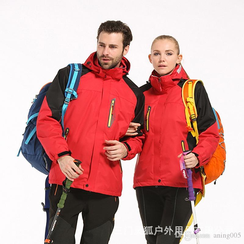 2020 лучшая фабрика прямая осенняя и зимняя куртка мужчины три в одном или двух наборах открытых лыжных костюмов езда одежда