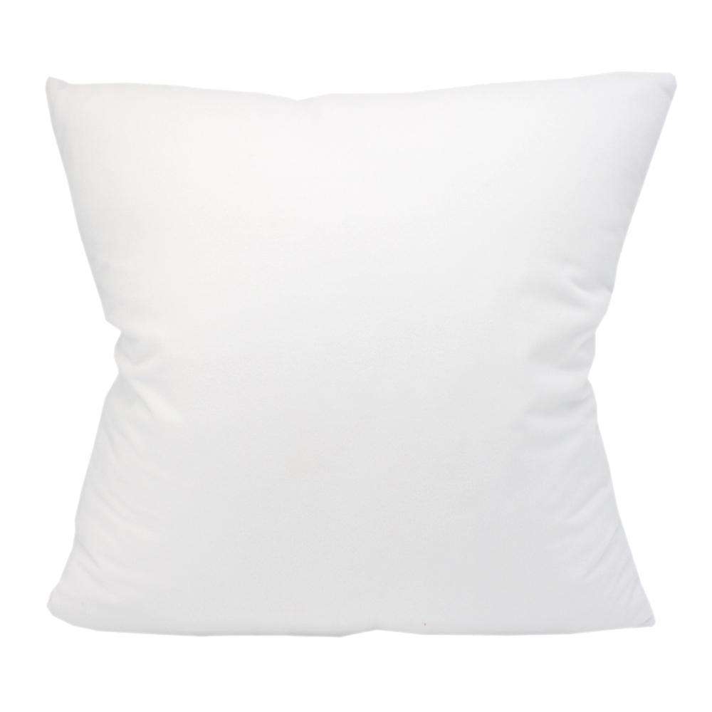 الأبيض 100٪ البوليستر المخملية وسادة وسادة الأغطية المستخدمة لطباعة نقل الحرارة الحراري فارغة التسامي وسادات بالجملة