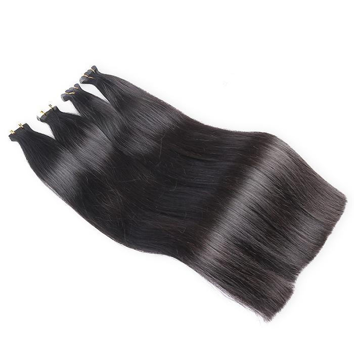 Unsterbliches reines Haar 1b Farbband Haarverlängerungen Top Qualität Band im Haar Superior Qualität Großhandel Fabrik Preis