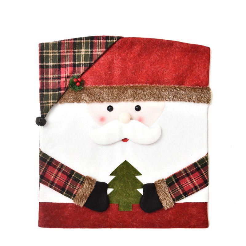 Мультфильм кукла стул крышка рождественские снеговики украшения лося крышки дома меблировка Санта-Клаус украшения рукав 2020 15QH F2