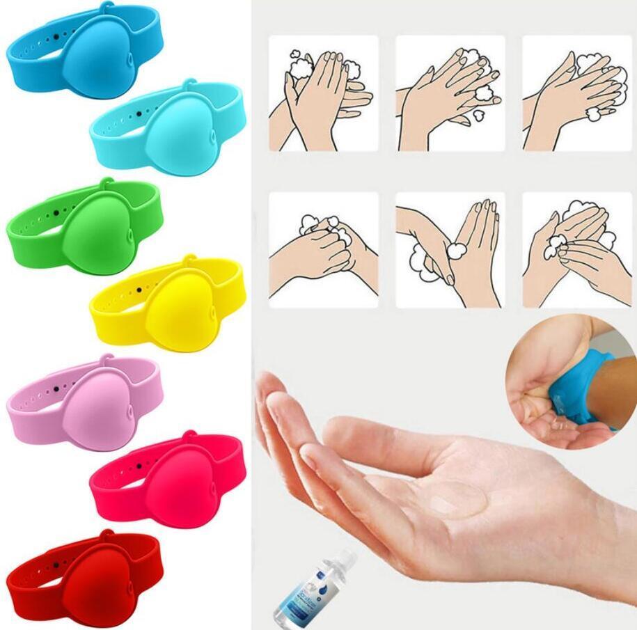 اليد المطحنة سوار المحمولة اليد المطهر مطهر التعبئة الفرعية سيليكون سوار معصمه موزع اليد يمكن ارتداؤها 10 ملليلتر