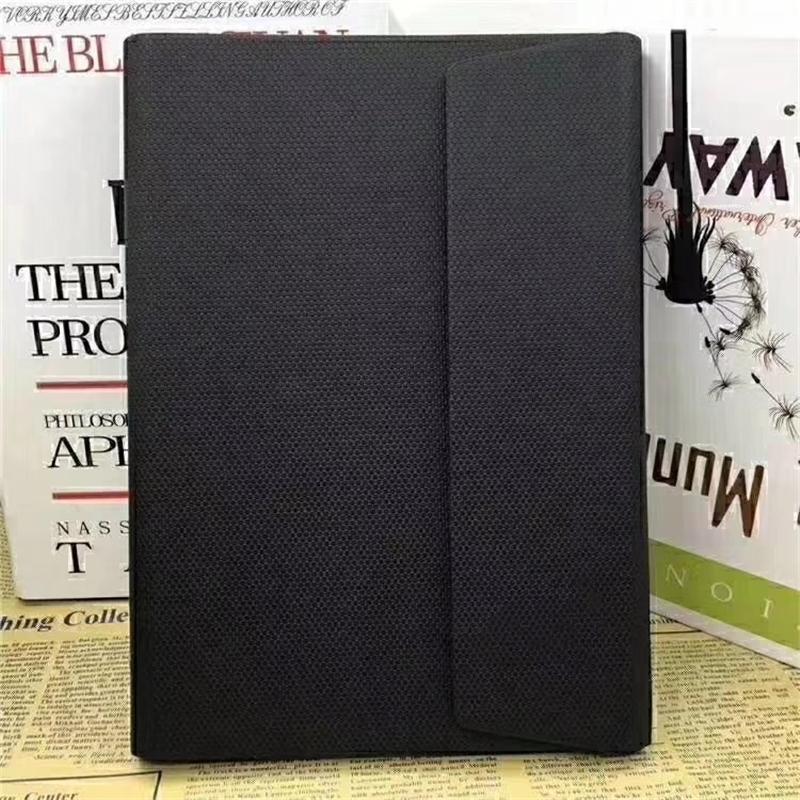 Capa de couro preto de luxo bloco de notas agenda de notas da agenda livro de notebook clássico notebook diário avançado design de negócios de design 5a