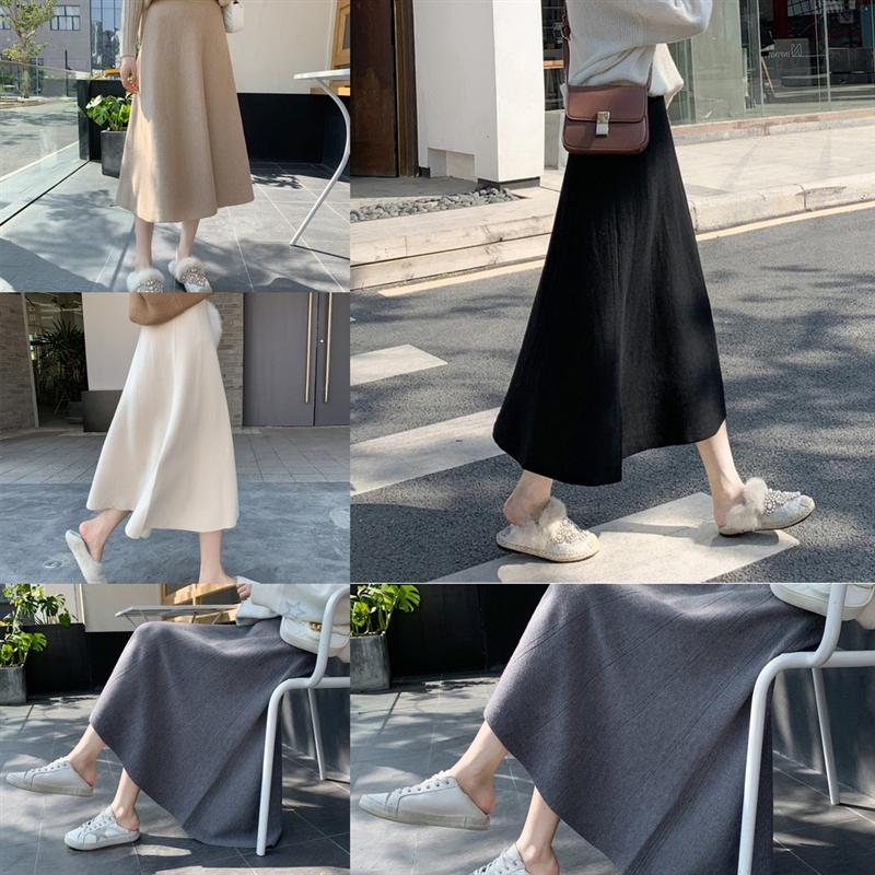 EEMTJ Sexy Crotch Cover Women sexy Slimming hot Tight skirt girl Skirt mini Skirt Cute Pencil Ice Silk Smooth Knitting See Transparent
