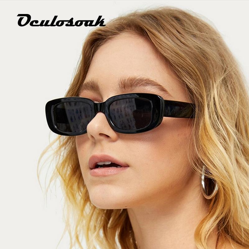 Yeni Trend Kadınlar Çerçeve Moda Kare Jöle Shot Erkekler Renk Gölge Küçük Güneş Gözlüğü Güneş Gözlüğü Lüks Çerçeve UV400 Ayna Sokak NQRCA