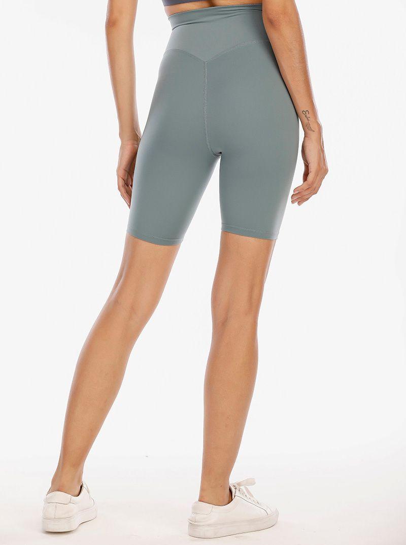 LU VFU Leggings Leggings Yoga Traje del muslo Diseñador para mujer Entrenamiento de mujeres Gimnasio Wear Solid Deportes Elastic Fitness Lady Align Shr Short 4 Pantalones