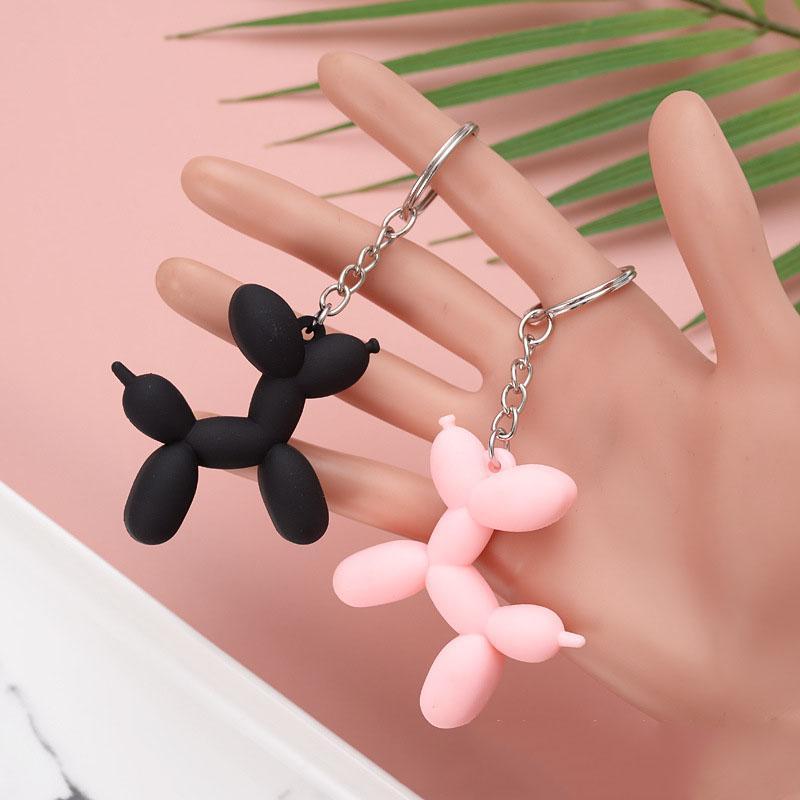 Dhl مفتاح سلسلة لطيف بالون الكلب المفاتيح مجوهرات زوجين كيرينغ الإبداعية الكرتون حقيبة الهاتف المحمول سيارة قلادة مرحة