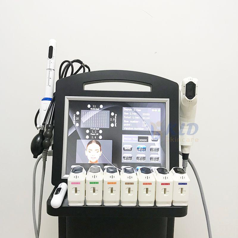 2 ручки 4D Hifu вагинальный RF-машина 10 картриджей 3DHifu Лифт лица, подтягивающие корпус Женщины влагалище затягивающие для красоты студия SPAS CE KLDSKINKARE