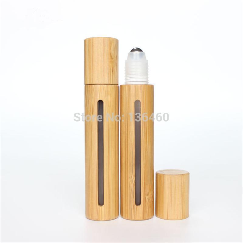10 ml 15 ml 15 ml de bouteille de rouleau respectueuse de la bouteille de verre cosmétique conteneur cosmétique EXPOSIER ESSENTIEL ESSENTIEL MASSAGE TUBER TUBE COSMETIQUE BAMBOO