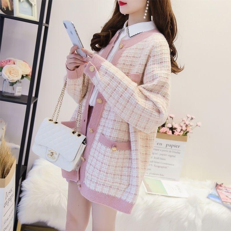 Spring / automne Femmes Pulls Tricotés Pull occasionnel Lâche Automne Femme Épais Vêtements Cardigans Étudiants Sweaters Sous Femmes Coat Y200116