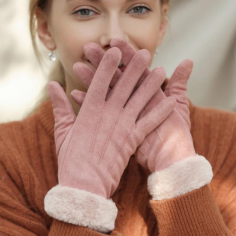 Women Suede Hot New Classic Winter Luxurys Gloves Sale Velvet Woman Womens Plus Designers Designer Gloves Ftfqc Irhwu