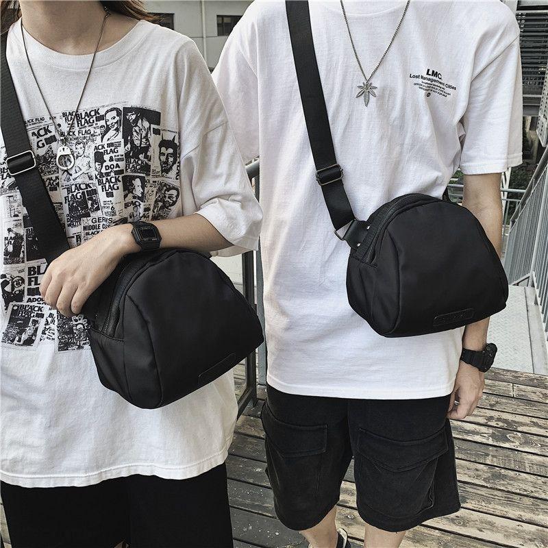 nova e simples tendência trave 2020 ombro de nylon impermeável lazer Shoulder bag Shell bagshell das mulheres saco preto KgIZ7