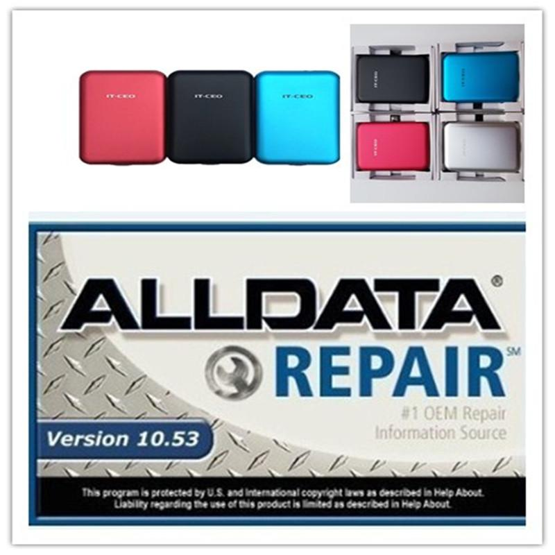 2020 Hot selling Auto Repair Soft-ware alldata 10.53v in 640GB HDD Free install support Windows 7/8/xp