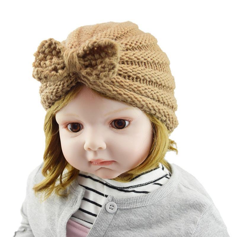 Tapas de ganchillo lindo divertido de punto Bowkot bebé del invierno embroma el sombrero de moda con estilo para niños Boy personalizados frescos Occidental 21 colores