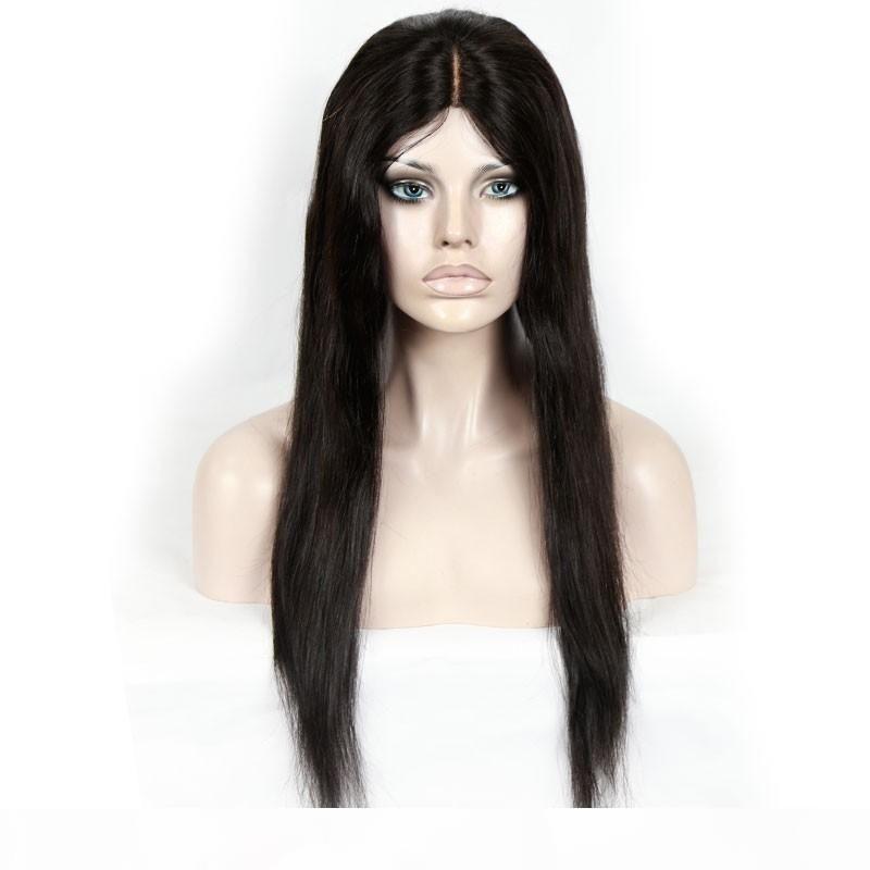 Полный парики шнурка Италия Glueless Шелковый парик давление больше Full Of My шнурков бразильском прямые волосы человеческих младенцев человеческих волос 100% kabell