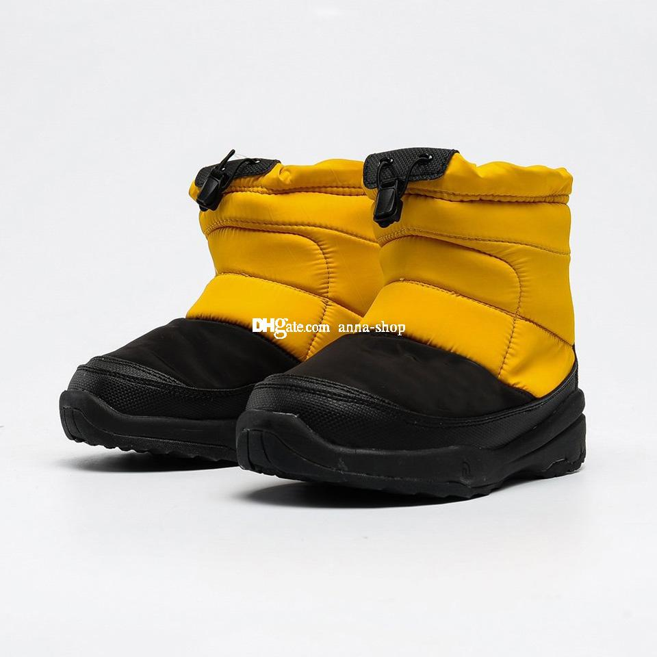 Nuptse Bootie for Big Kids Brand Winter Boots Toddler Boys Warm Boot Little Girls Outdoor Shoes Children Snow Booties Sports Girl Sneakers
