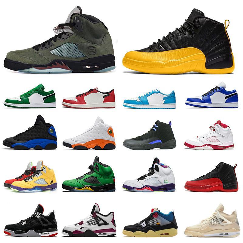 Jordans Air jordan 1 Баскетбольные кроссовки Low 1s New Arrivals 1 Paris UNC Pine Green Chicago hyper royal Спортивные кроссовки на открытом воздухе мужские кроссовки Размер 36-45
