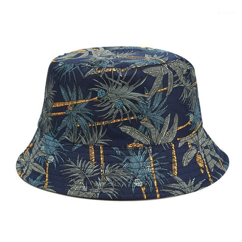 Unisex Summer Foldable Print Bucket Hat Women Outdoor Sunscreen Cotton Fishing Hunting Cap Men Basin Chapeau Sun Prevent Hats1