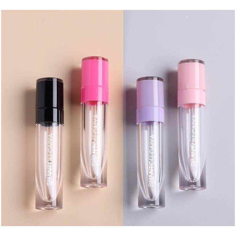 Wholesale High Quality 6ml Cosmetic Pink Purple White Black Clear Empty Lipgloss Tubes Lip Gloss jllnBx mx_home