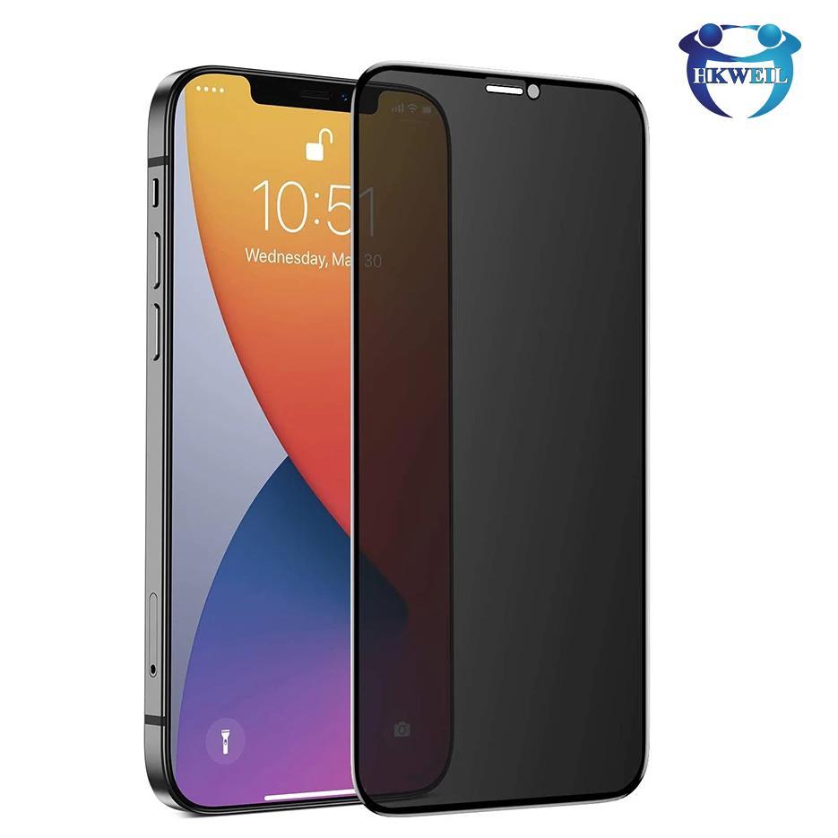Anti Spy Peep confidentialité Verre Trempé pour iPhone 11 Pro XS Max XR 8 Plus écran protecteur en verre de protection pour iPhone 12 Mini