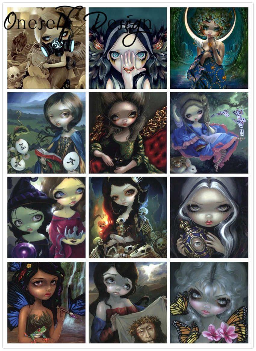 Maravillosa pintura Venta de dibujos animados 5D Bordado Magic Girl Rhinestone Pictures Diamond Mosaic 0930