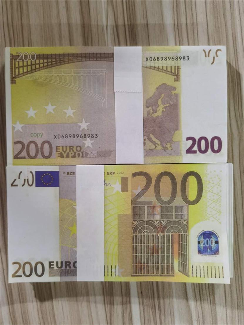 2021 Vente chaude PROP ARGENT EUR 10/20/50/100/200/500 PAPIER Copier Banknote PROP ARGENT 100PCS / PACK 05