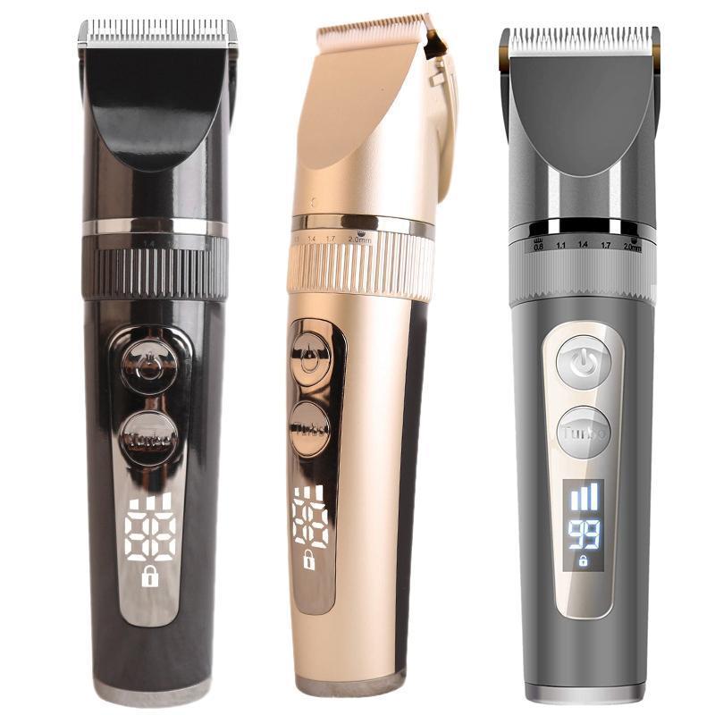 Profissional do cortador de cabelo para o kit de corte dos homens elegantes, o trimmador profissional impermeável com exposição 6 pentes de guia