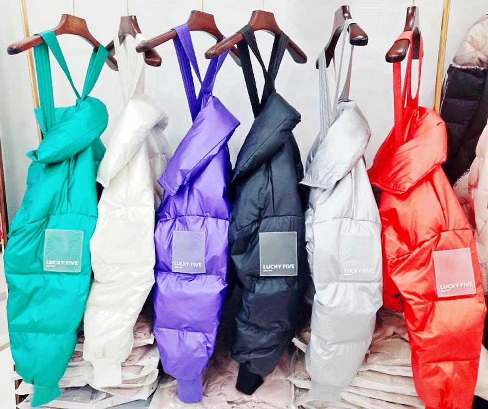 Рюкзак, хлеб зимнее платье, женское утолщенное маленькое пальто, свободную куртку, короткий стиль